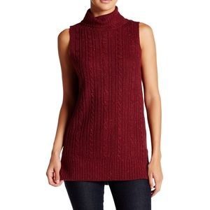 NWT Very J Knit Tunic Sleeveless Sweater Large